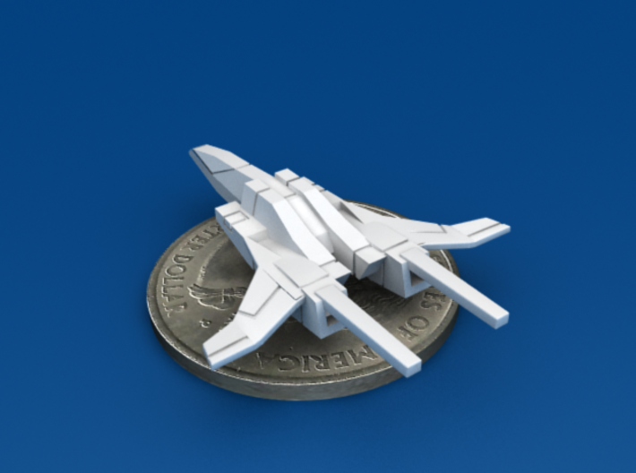 Space Fighter Type-B, 4-Pack 3d printed Aft 3/4 View