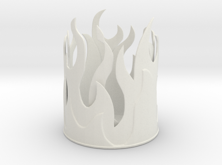Flame Pencil Holder 3d printed
