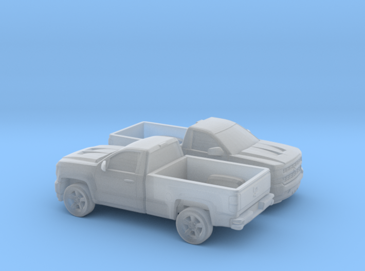 1/160 2X 2016/17 Chevrolet Silverado Single Cab Lo 3d printed