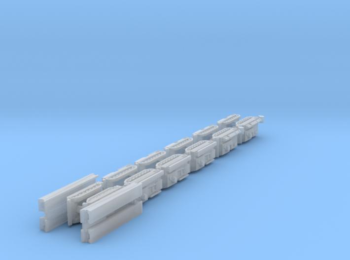 1/700 Leopard ARV, AEV & AVLB x12 (FUD) 3d printed