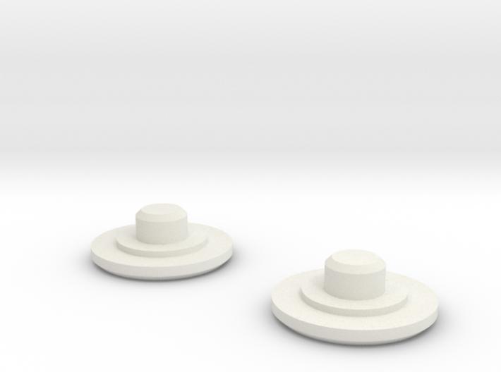 Fidget Bearing Caps 3d printed