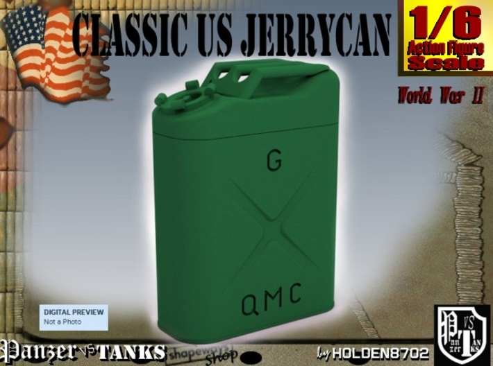 1-6 Jerrycan US Army 3d printed