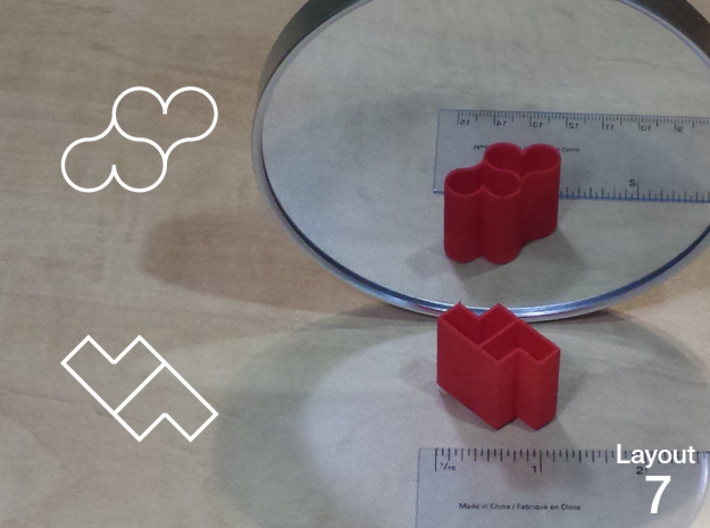 Improved Ambiguous Cylinder Illusion (Layout 7) 3d printed 3d printed object in front of mirror