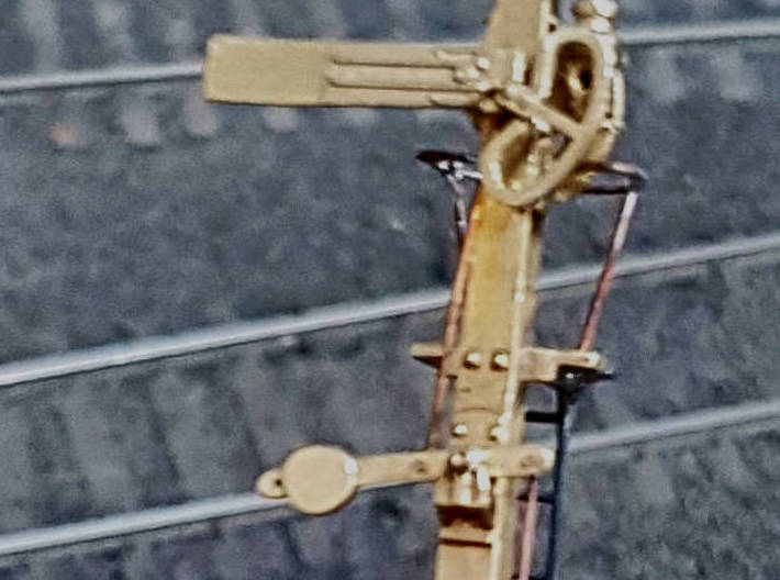 HO NSWR LQ Signal 18 ft Post + Parts 3d printed Close up of detail on completed signal