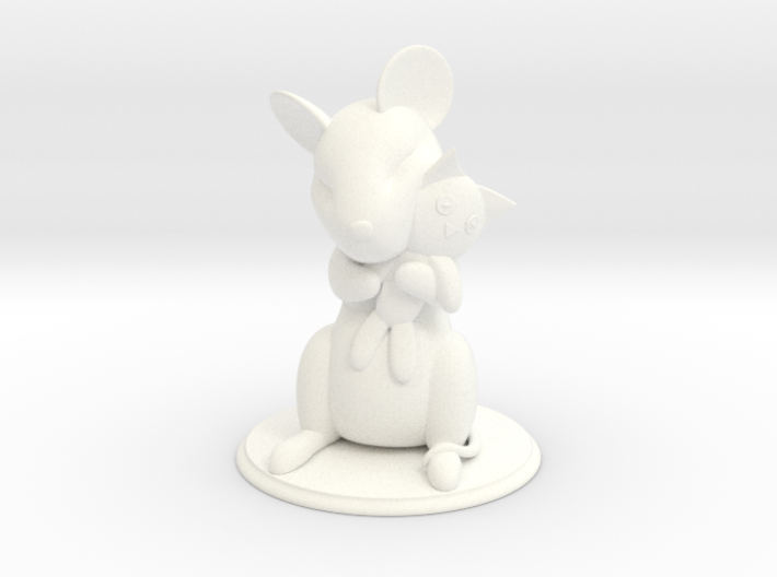 Mouse with Stuffed Cat 3d printed