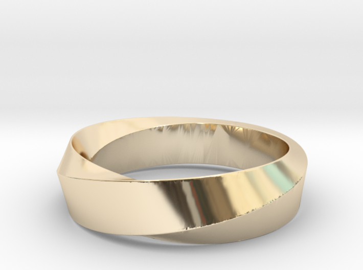 Mobius Wide Ring II (Size 11 3/8) 3d printed