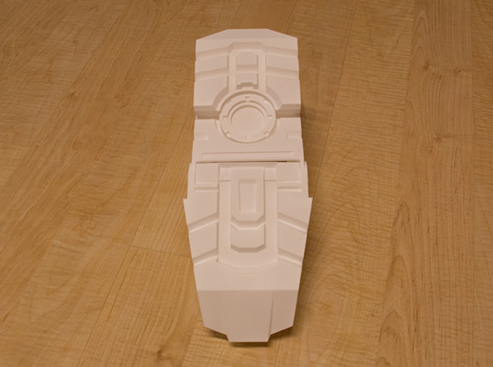Iron Man Boot (Heel with sole) Part 1 of 4 3d printed Actual 3D print using the Strong & Flexible Plastic.  Fully assembled boot, other parts printed separately.