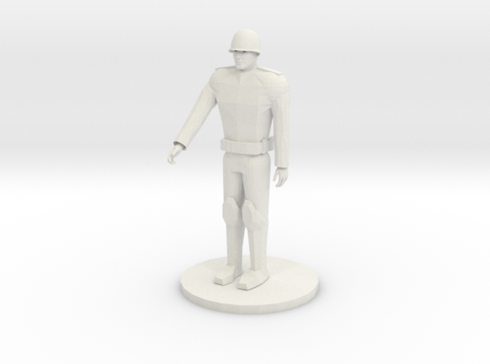 Russian Unarmed soldier 3d printed