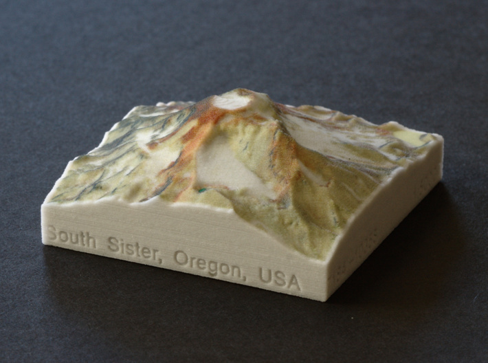 South Sister, Oregon, USA, 1:50000 3d printed