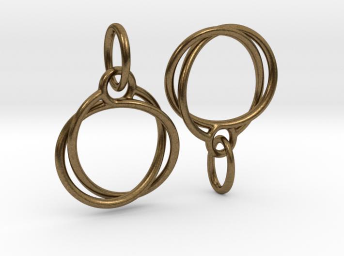 Mobius earrings jR 3d printed