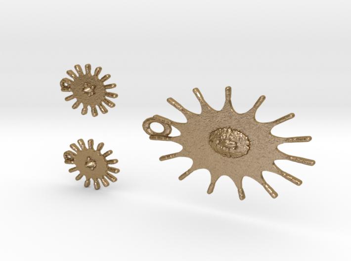 Sun Earrings And Pendant 3d printed
