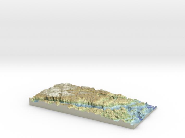 Lysefjord / Lysefjorden Relief Map, Norway 3d printed
