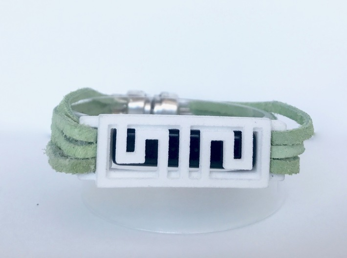 Box Pattern Clip For Fitbit Flex2- Plastic 3d printed