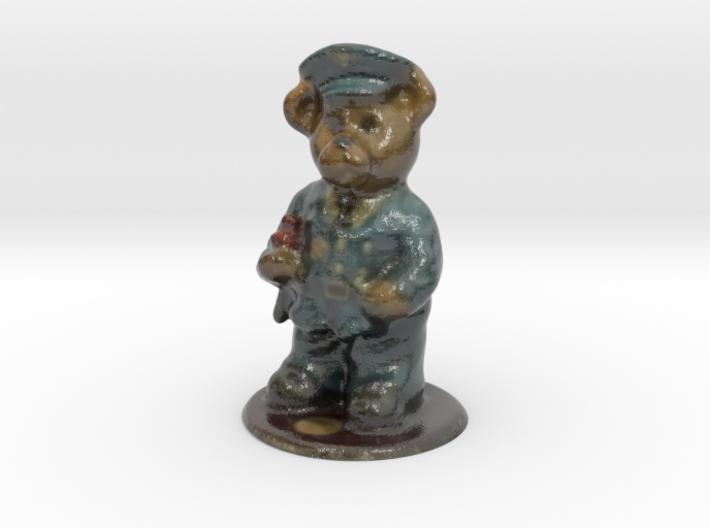 Police Bear 3d printed