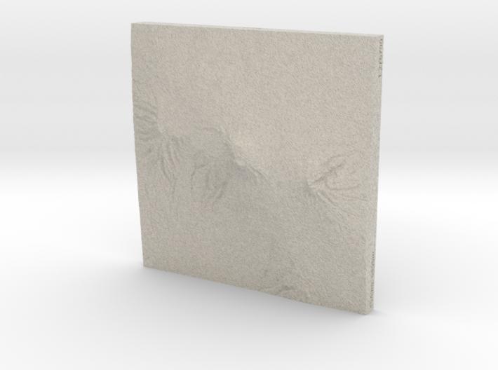 6''/15cm Mt. Kilimanjaro, Tanzania, Sandstone 3d printed