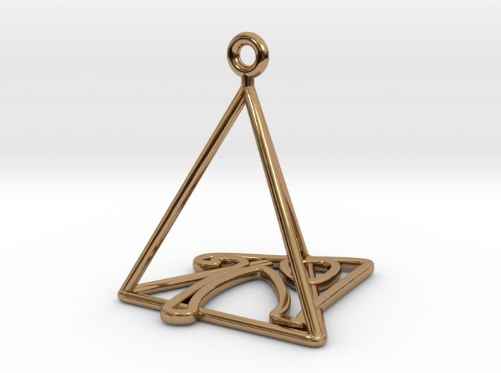 Personalised Pyramid Earring 3d printed Personalised Pyramid Earring