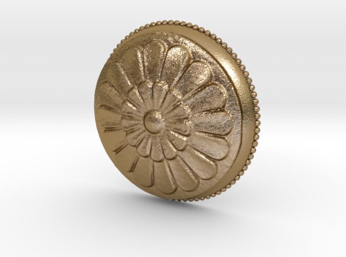 Circular Flowers Relief Pendant 3d printed