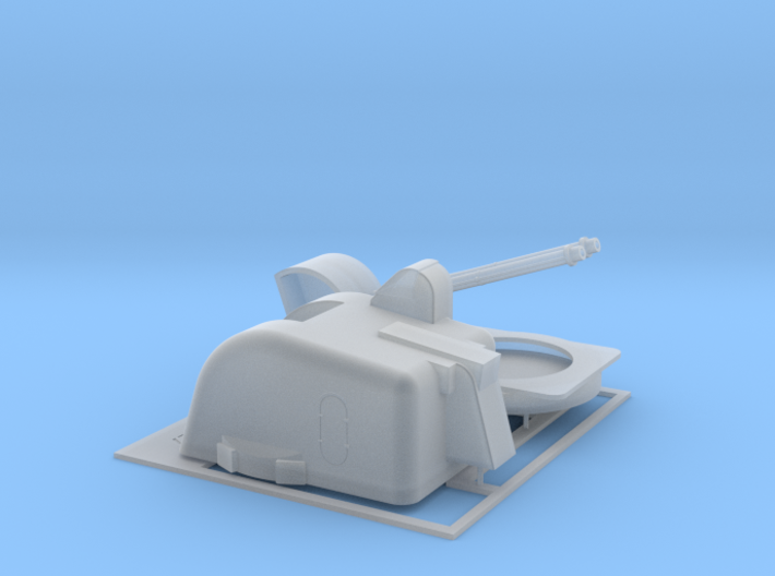 Twin Bofors 120mm Turret 1/87 3d printed