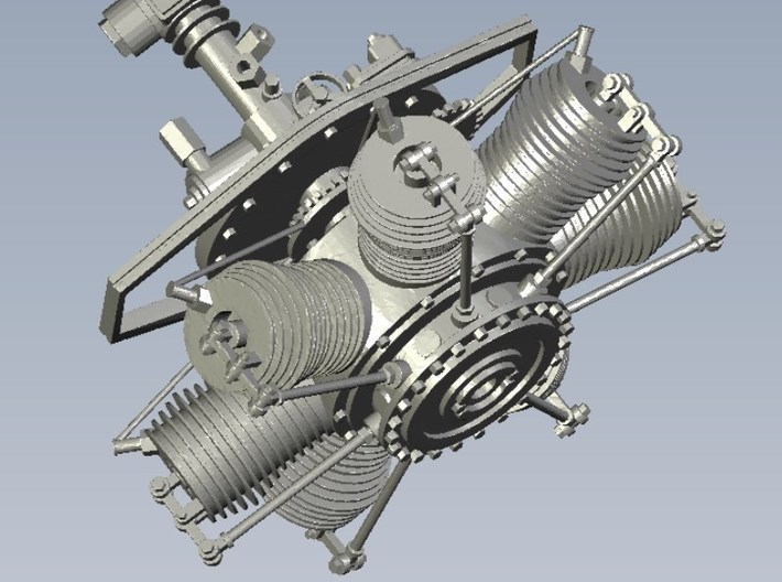 1/24 scale Gnome 7 Omega rotary engines x 3 3d printed