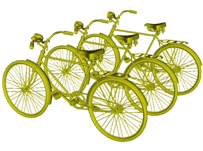 1/24 scale WWII Wehrmacht M30 bicycle models x 3 3d printed