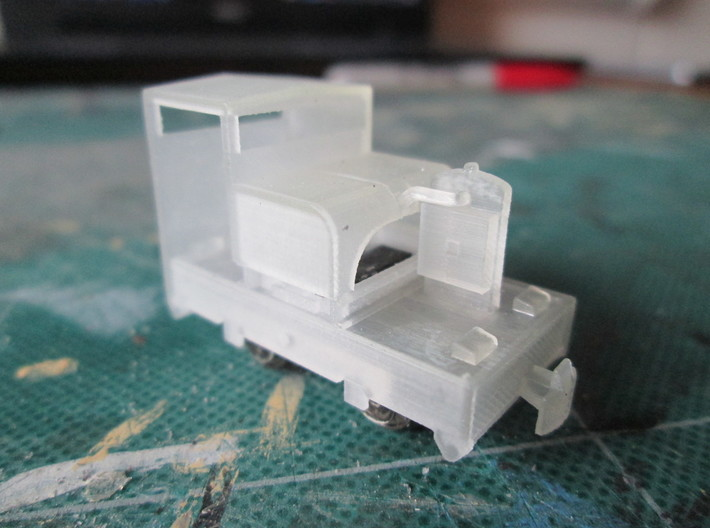 N102 - 009 20hp Simplex - Cab 1 - World craft 3d printed As the print comes, dropped onto the chassis.