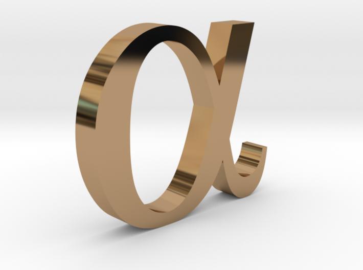 Greek Jewelry - Alpha Pendant 3d printed