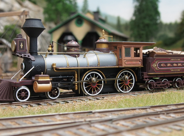 HO scale old time locomotive detail variety pack 1 3d printed