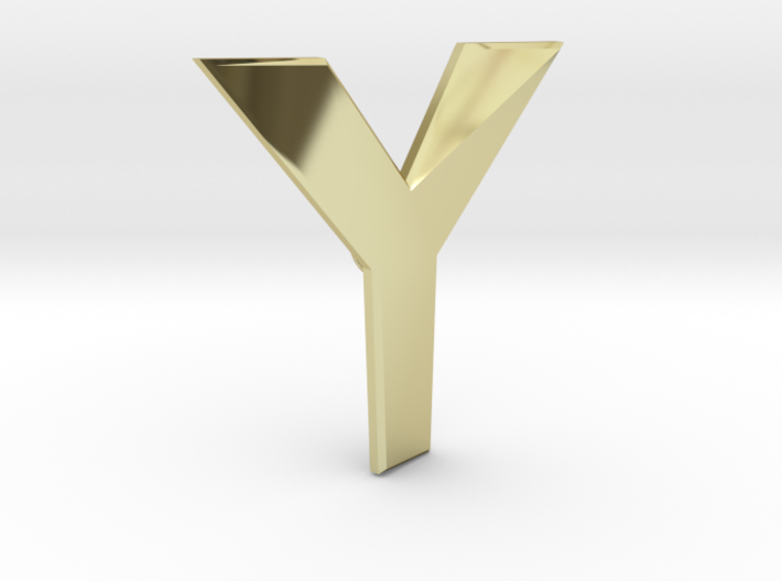 Distorted letter Y 3d printed