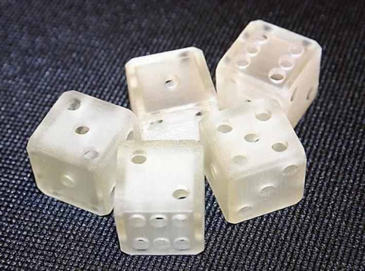 Hollow Dice 3d printed Printed