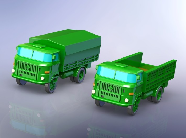 GDR IFA W-50 3to light Truck 1/2985 3d printed