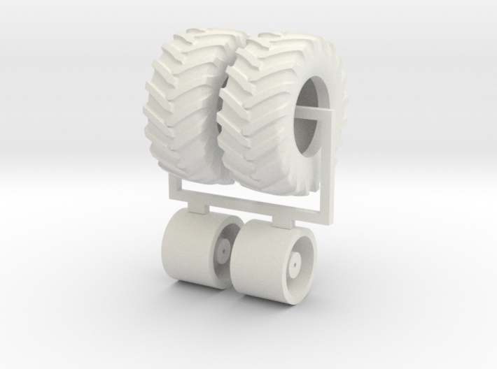 1/64 620/75r30 wheels and tires 3d printed