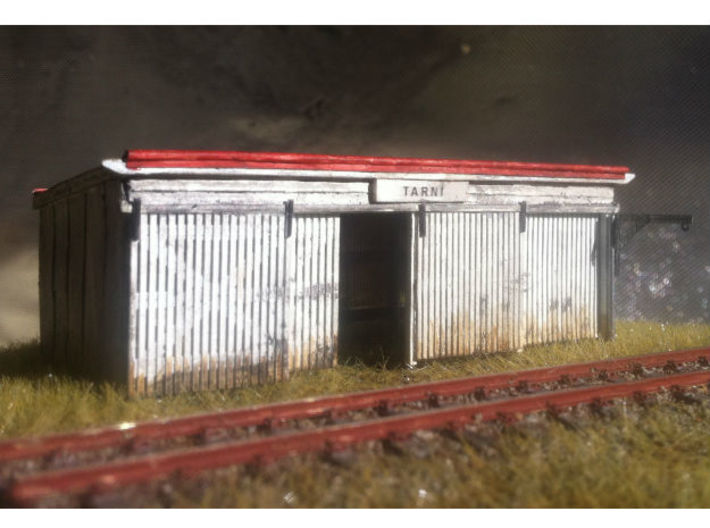 4 Stall Fettlers Shed (Type 1) 3d printed Ho scale assembled with extra materials needed and painted