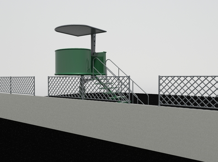 Marshal Tower for Slot Car Track (1/32) 3d printed Marshall Tower (example painted + Pit Wall)