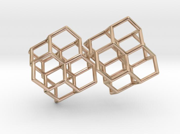 Diamond earring pair 3d printed