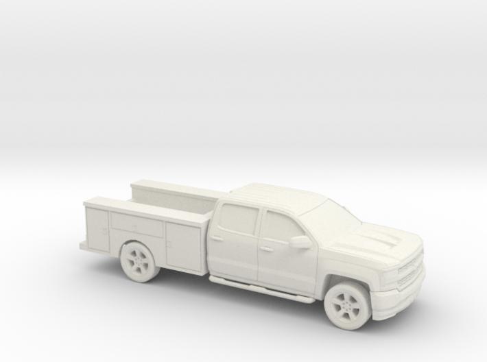 1/87 2016 Chevrolet Silverado Crew/ Utiliti 3d printed