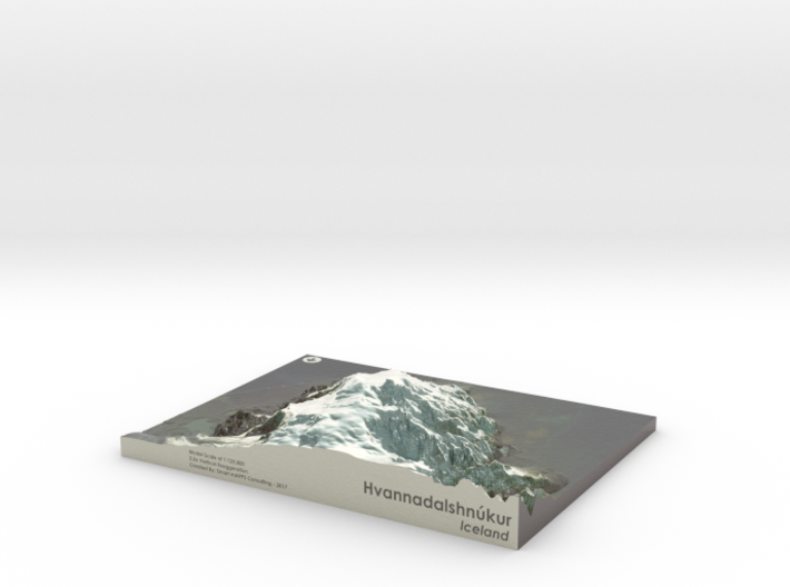 Hvannadalshnukur Map, Iceland 3d printed