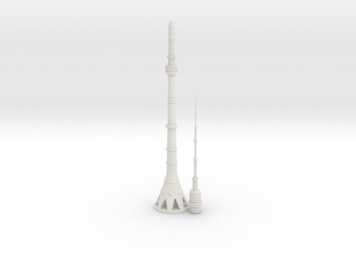 Ostankino TV Tower (1:2000) 3d printed