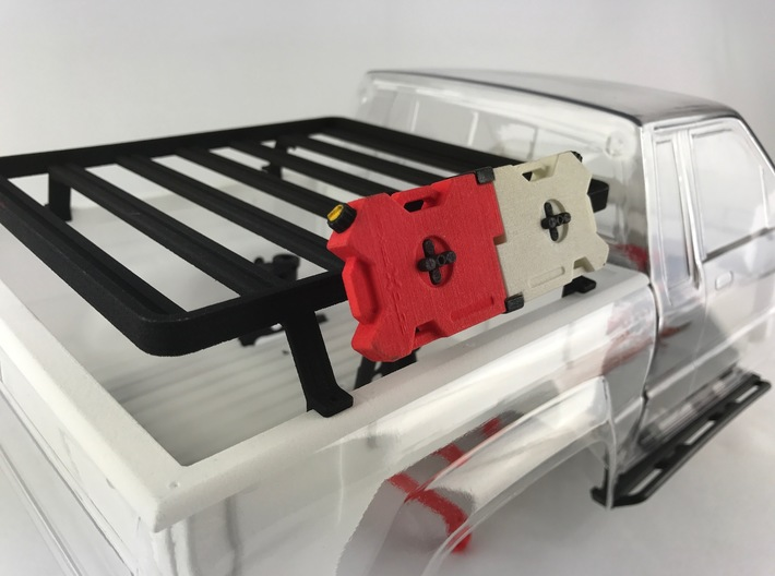 FR10019 Slimline II RotopaX Mount 65 Deg 3d printed Part mounted to Slimline rack with RotopaX (sold separately)