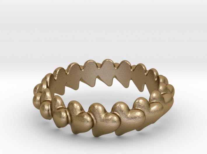Hearts Bracelet 78 3d printed
