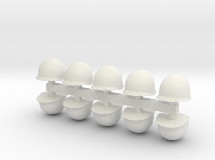 1-20 US M1 Helmets Set1 3d printed
