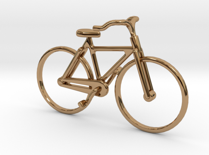 Old Bicycle pendant 3d printed