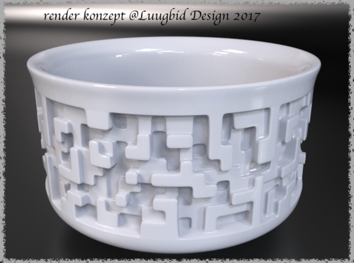 Chawan Teacup for Japanese Tea Ceremony 3d printed