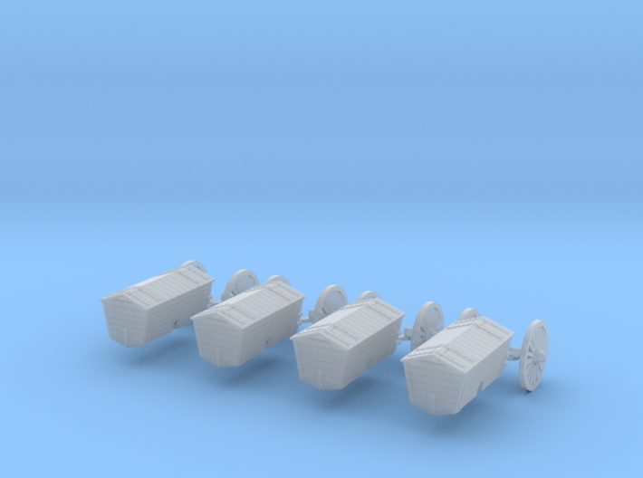4 Harritschwagen als Ladegut (N 1:160) 3d printed