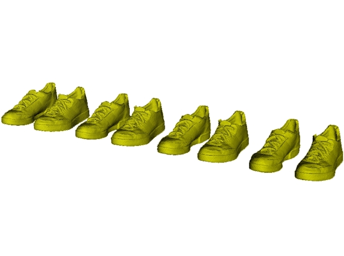 1/35 scale sneaker shoe pairs x 4 3d printed