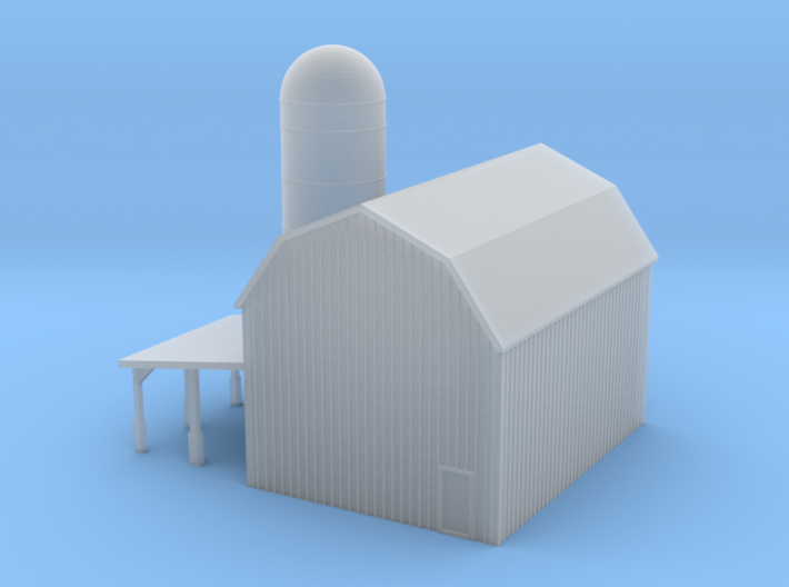 t Gauge Barn 3d printed