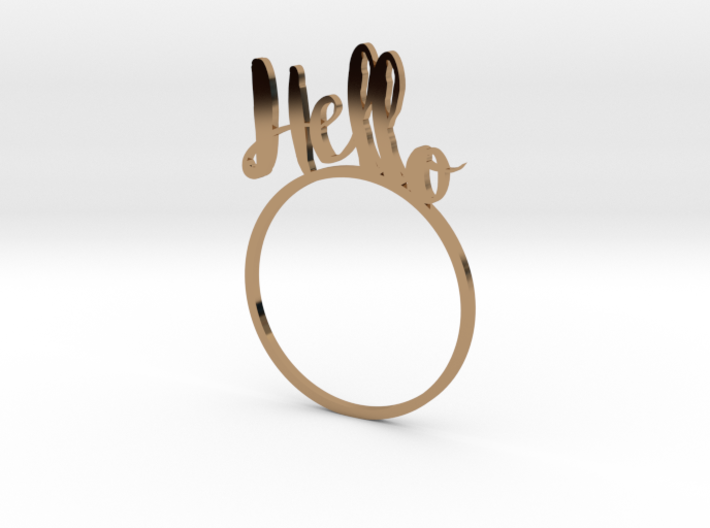Hello [LetteRing© Serie] 3d printed