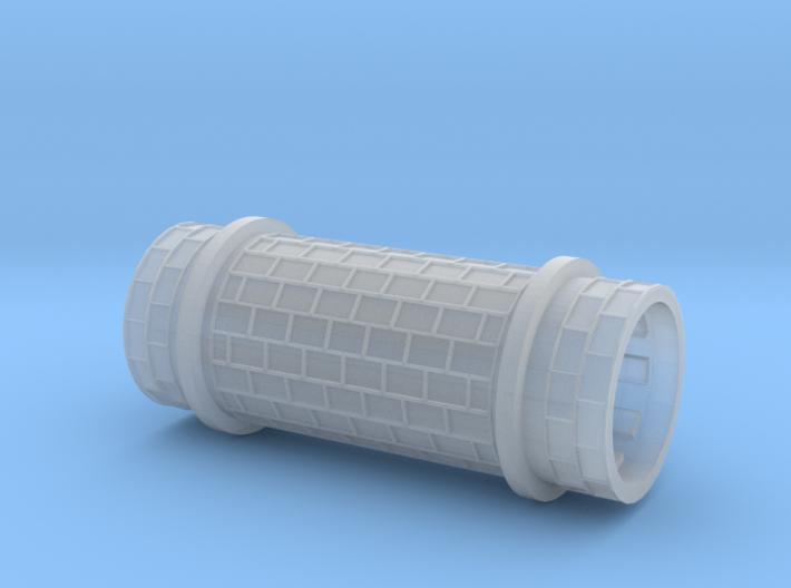 Row paving w/ border and girder rail (O 1:45) 3d printed