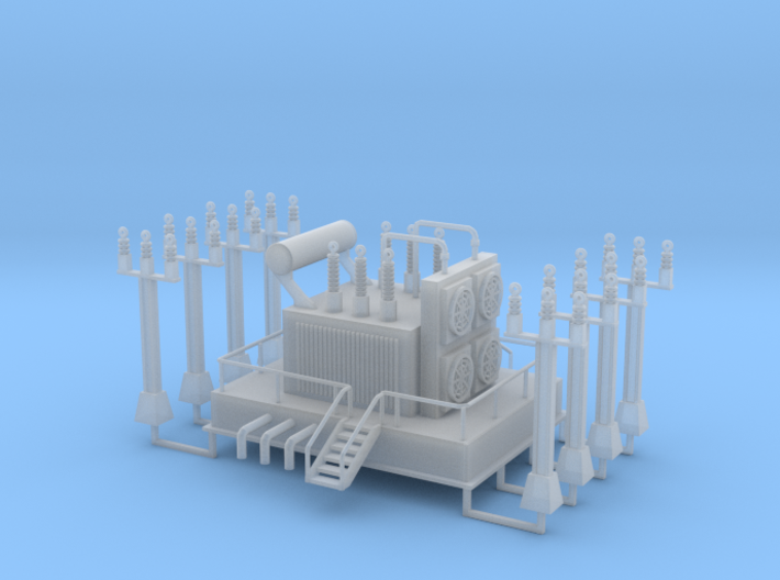 Power Station Transformer N Scale 3d printed Power Station Trainsformer Nscale