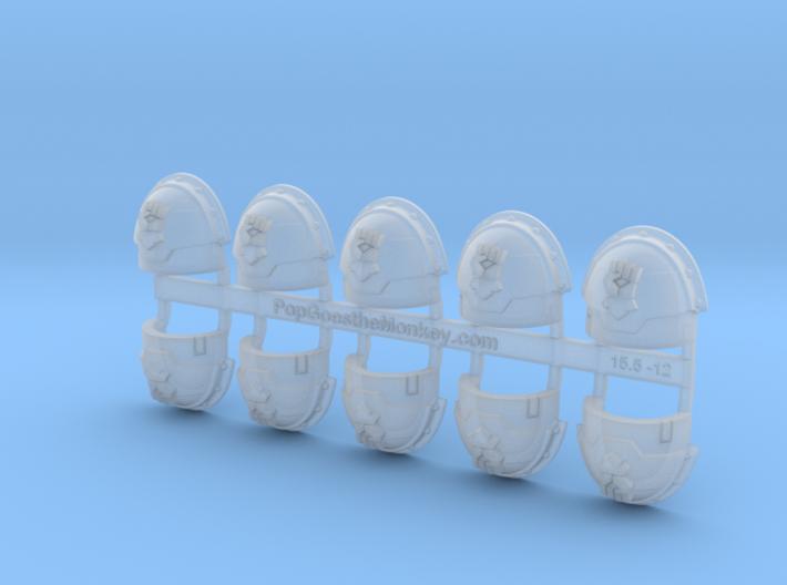 Kings Fist - Stormguard Shoulder Pads x10 3d printed