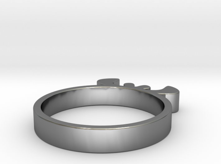 Simple Ring 15.70 U.K. Size J1/2 or US size 5 3d printed